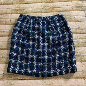 nwot loft thick plaid skirt